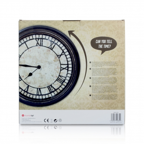Antique Backwards Clock Large Image