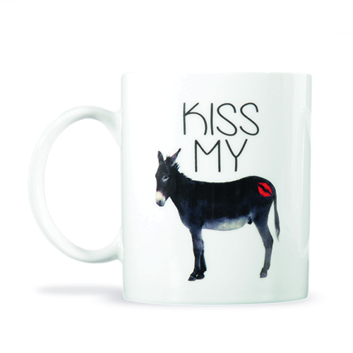Kiss My Ass Mug Large Image