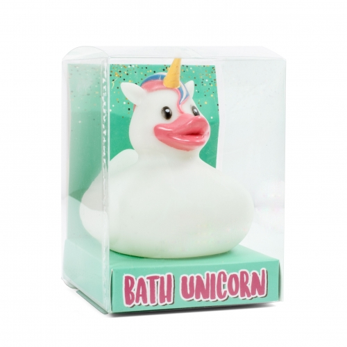 LED Badeente Einhorn - Unicorn Bath Duck
