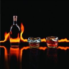 Charred Whiskey Glasses (Set of 2)