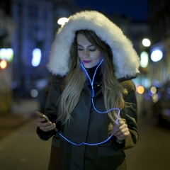LED Kopfhörer Neoglow - blau