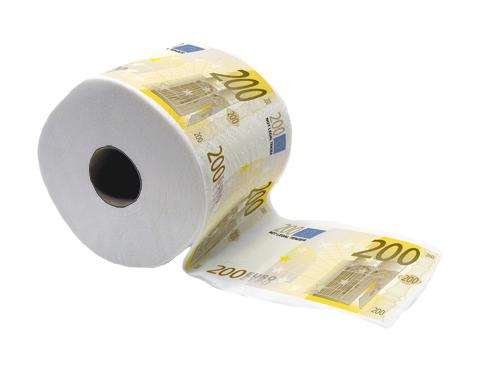 200 Euro Toilet Paper Large Image
