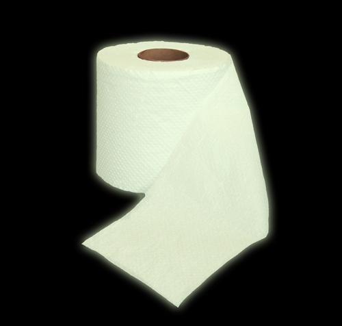Glow in the dark toilet roll