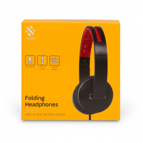 Folding Headphones - Black Large Image