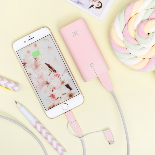 Hopscotch 4000mAh Powerbank - Pink