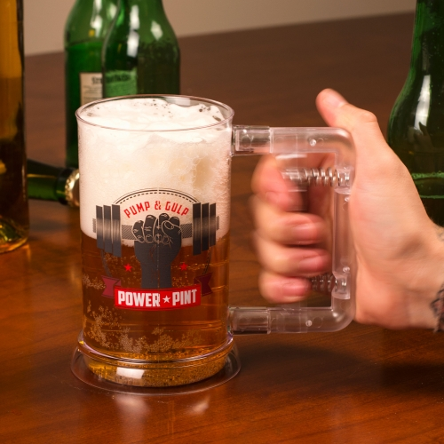 Power Pint Glass Large Image
