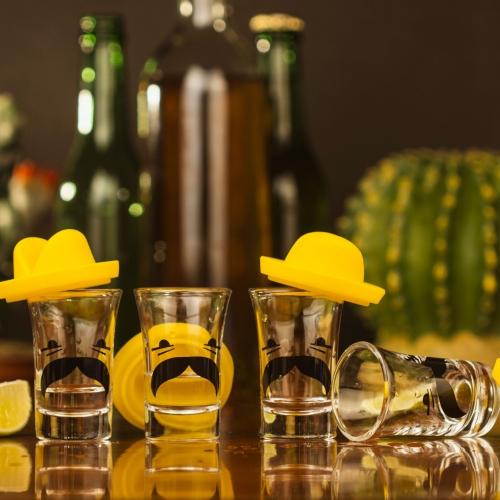 Mexican Sombrero Shot Glasses