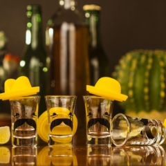 Mexican Sombrero Shot Glasses