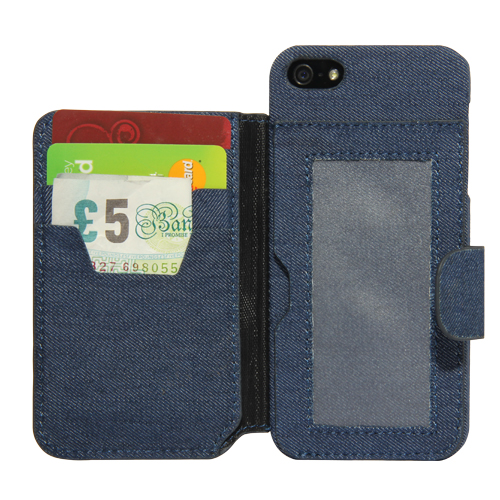 iWallet (Jeans Optik) - Case für iPhone 5/SE