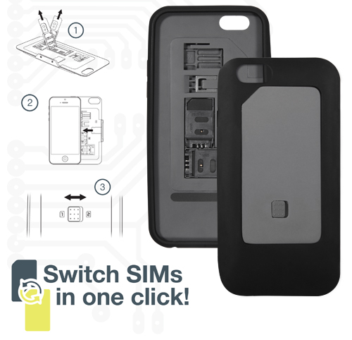 Dual SIM Card Case for iPhone 6