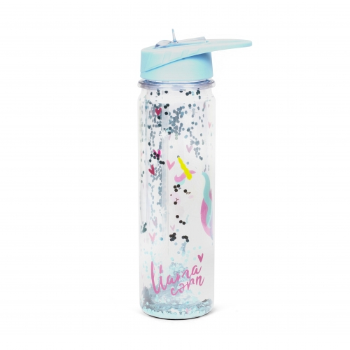 Llamacorn Plastic Water Bottle