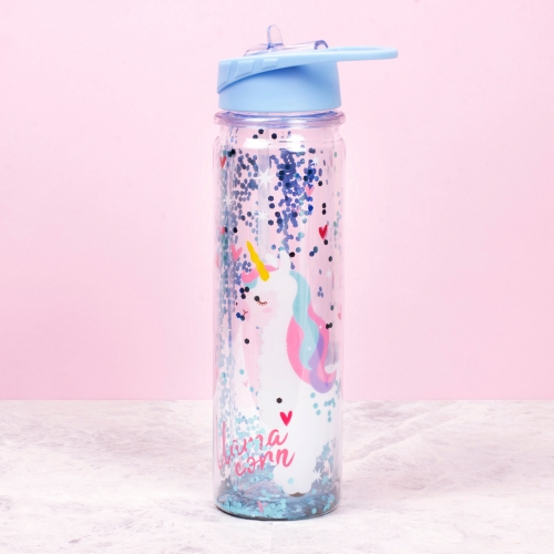 Llamacorn Plastic Water Bottle Large Image