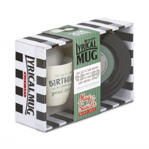 L&M Mug and Saucer Set - Birthday Large Image