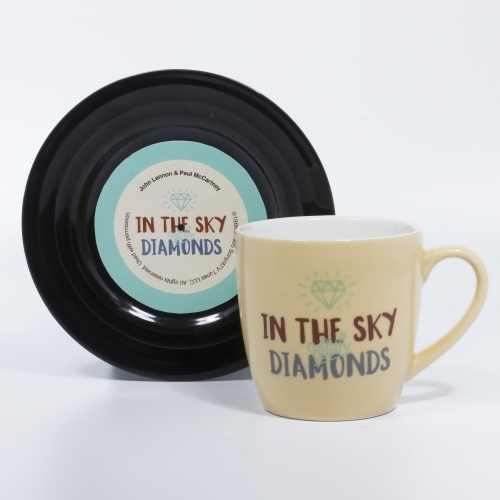 L&M Mug and Saucer Set - Diamonds