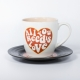L&M Mug and Saucer Set - Love thumbnail image 1