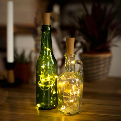 LED Cork String Lights