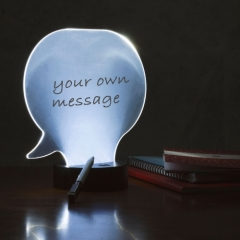 Speech Bubble Memo Lamp