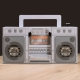 Retro Touch Boombox Speaker thumbnail image 1