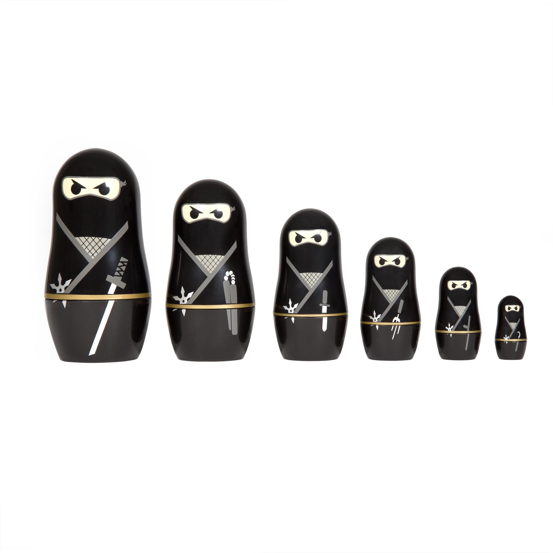 Ninja Nesting Dolls Large Image