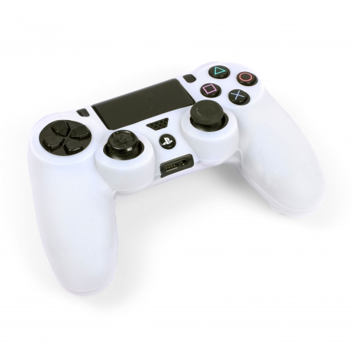 Silicone Controller Skin - White : Playstation 4 Large Image