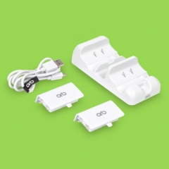 Dual Charging Dock With Plug & Charge Batteries : XBOX ONE, XBOX ONE S