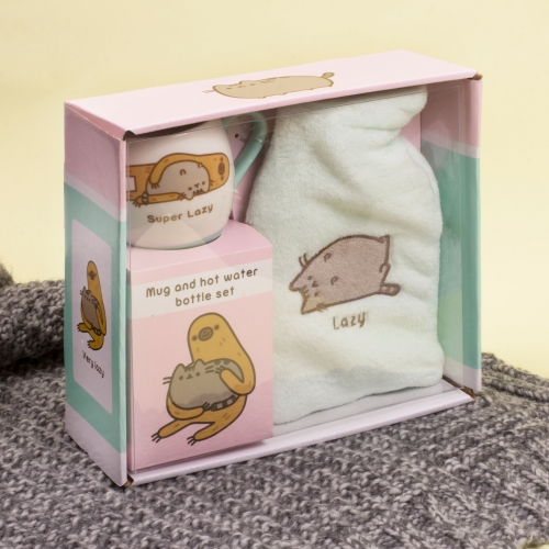 Pusheen Hot Water Bottle & Mug Set