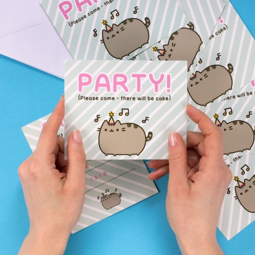 Pusheen - Party Invites Large Image