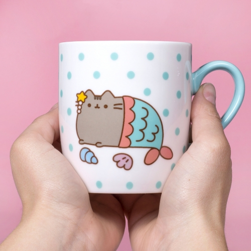 Pusheen - Sock in a Mug - Mermaid  Large Image