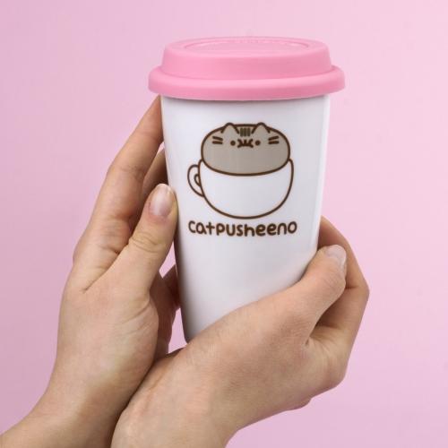 Pusheen - Ceramic Travel Mug - Catpusheeno