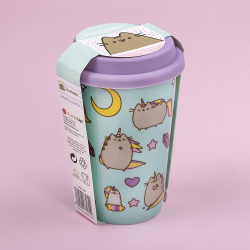 Pusheen - Ceramic Travel Mug - Pattern Large Image