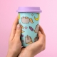 Pusheen - Ceramic Travel Mug - Unicorn Pattern thumbnail image 0