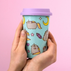 Pusheen - Ceramic Travel Mug - Unicorn Pattern