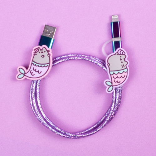 Pusheen - USB Charging Cable - Mermaid