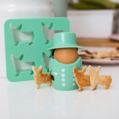 Queen Egg Cup & Toast Cutter Set