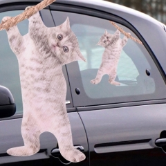 Ride With Hanging Cat - Fenstersticker