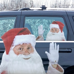 Ride With Santa  - Fenstersticker
