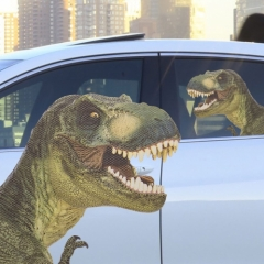 Ride With T-Rex - Fenstersticker