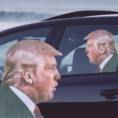 Ride With Donald Trump - Fenstersticker
