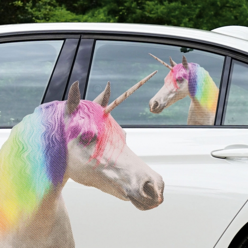 Ride With Unicorn - Fenstersticker