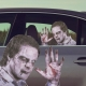 Ride With a Zombie - Fenstersticker thumbnail image 0