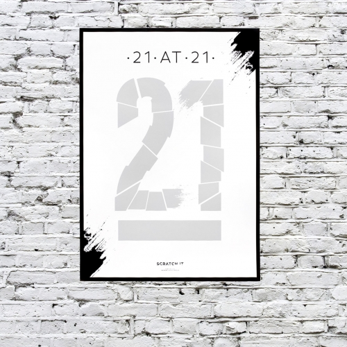 21 at 21 Scratch & Reveal Poster