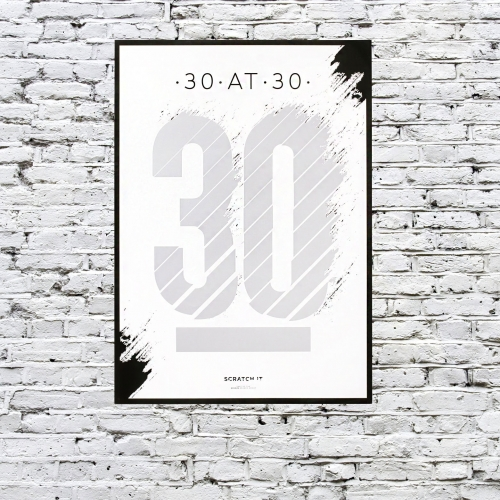 30 at 30 Scratch & Reveal Poster