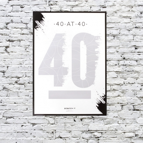 40 at 40 Scratch & Reveal Poster Large Image