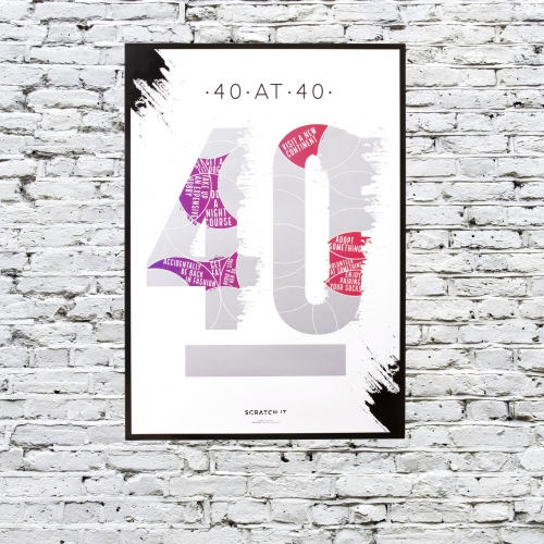 40 at 40 Scratch & Reveal Poster