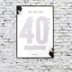 40 at 40 Scratch & Reveal Poster thumbnail image 1
