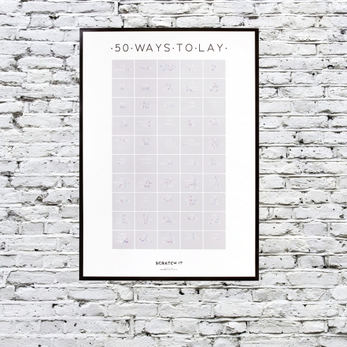 50 Ways to Lay Scratch & Reveal Poster