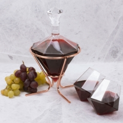 Diamond Decanter & Glass Set