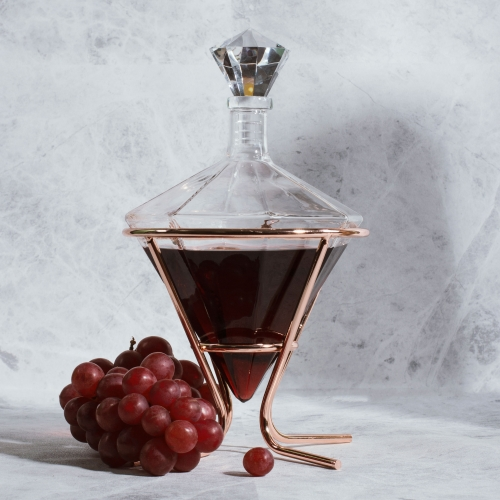 Diamond Decanter and Holder