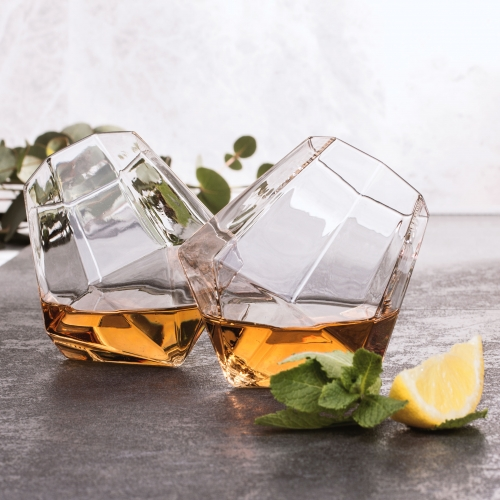 Diamond Glass (set of 2)
