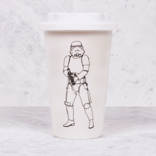 Original Stormtrooper - Ceramic Travel Mug - White
